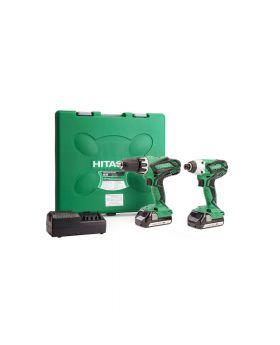 Hitachi Cordless Twin Kit Combi Drill and Impact Driver