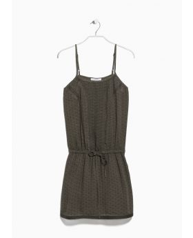 Wrap contrast bodice dress